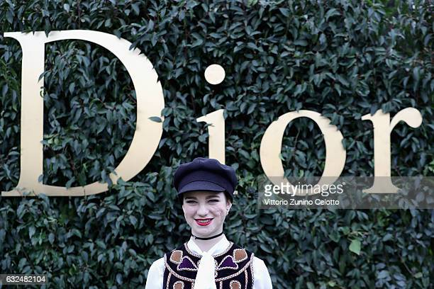 Beatrice Vio attends the Christian Dior Haute Couture Spring Summer 2017 show as part of Paris Fashion Week at Musee Rodin on January 23 2017 in...