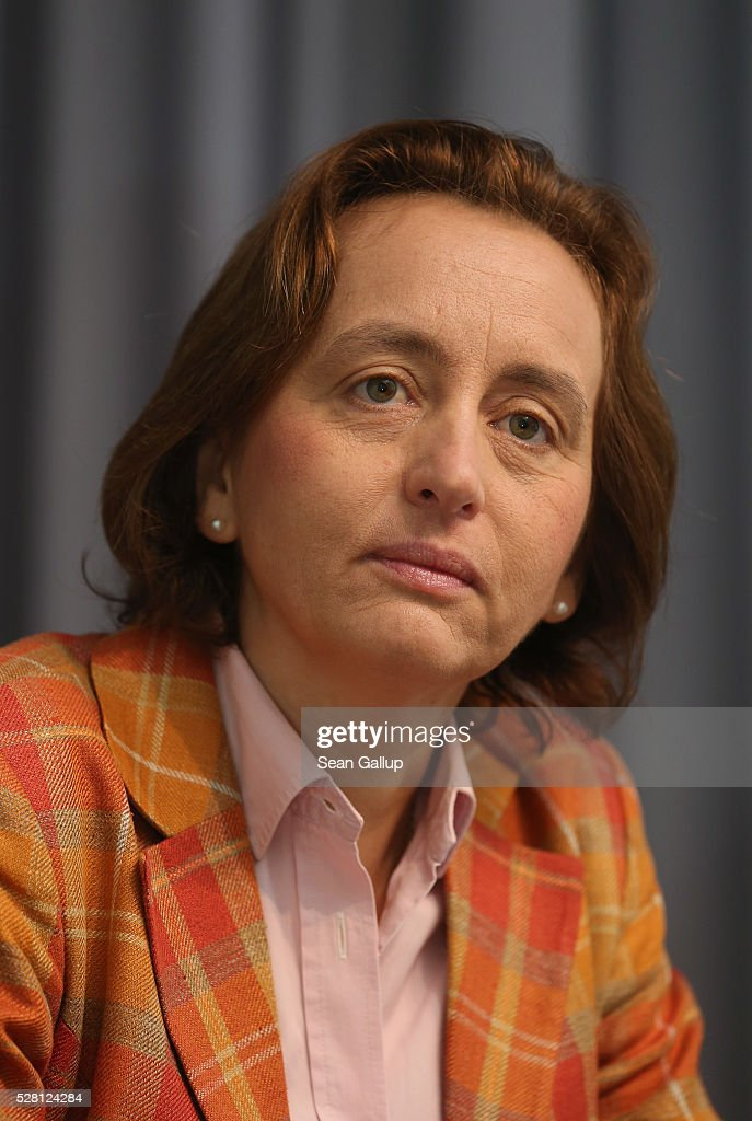 Beatrix von Storch, born Duchess Beatrix Amelie Ehrengard Eilika of Oldenburg, speaks with members of the Foreign Journalists' Association on May 4, 2016 in Berlin, Germany. Von Storch is deputy co-chairwoman of the Alternative fuer Deutschland (Alternative for Germany) political party, a right-wing populist party that has won seats in German state parliaments and is currently in third place among political parties in national opinion polls.