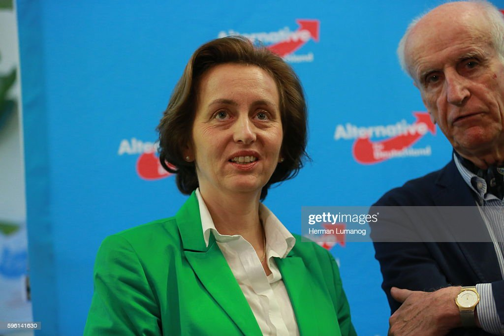 Beatrix von Storch deputy chairman of the party AfD and Member of the European Parliament during the election night of AfD at AO hostel in Berlin's...