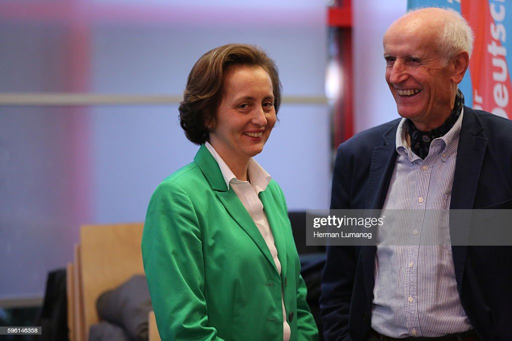 Beatrix von Storch deputy chairman of the party AfD and Member of the European Parliament and Albrecht Glaser during the election night of AfD at AO...