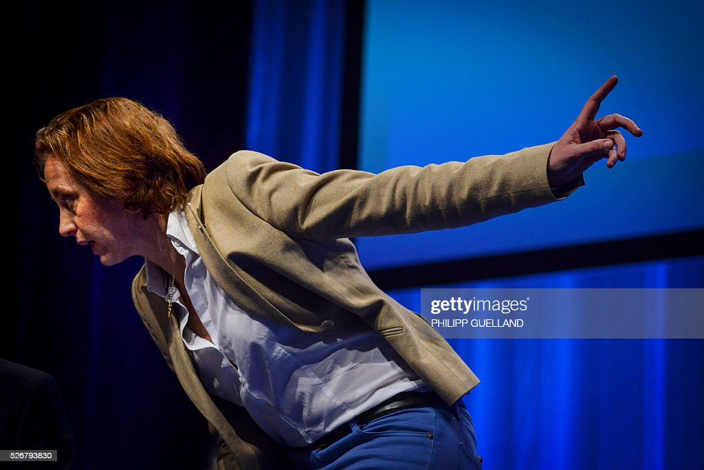 Beatrix von Storch, deputy leader of the german right wing party Alternative for Germany (AfD) attends the party congress of the German right wing party AfD (Alternative fuer Deutschland) at the Stuttgart Congress Centre ICS on May 1, 2016 in Stuttgart, southern Germany. / AFP / Philipp GUELLAND