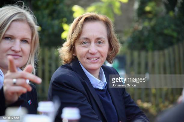 Beatrix von Storch of the Alternative fuer Deutschland looks on at the Gillamoos amusement fair on September 4 2017 in Abensberg Germany Politicians...