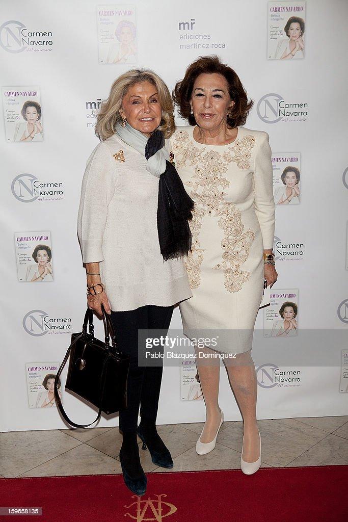 Beatriz de Orleans and Carmen Navarro attend new book 'Belleza Inteligente' presentation at Casino de Madrid on January 16, 2013 in Madrid, Spain.