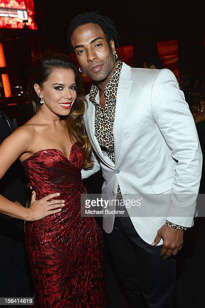Beatriz Luengo and Yoel Romero pose during the 2012 Person of the Year honoring Caetano Veloso at the MGM Grand Garden Arena on November 14 2012 in...