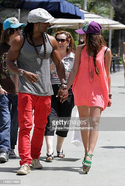 Beatriz Luengo and Yotuel are seen on April 3 2012 in Miami United States