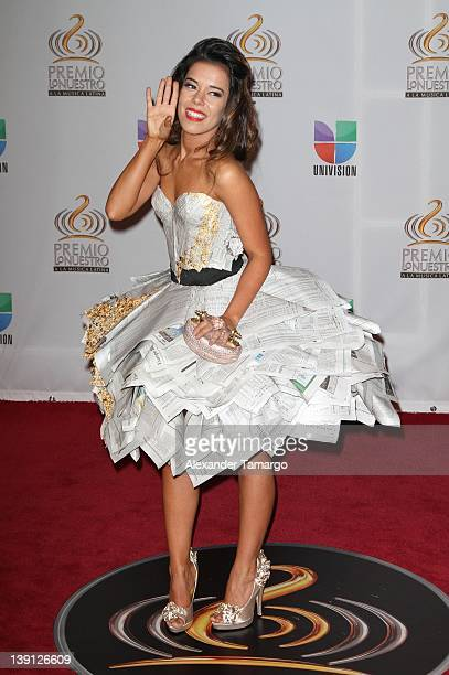 Beatriz Luengo arrives at Univision's Premio Lo Nuestro a La Musica Latina at American Airlines Arena on February 16 2012 in Miami Florida