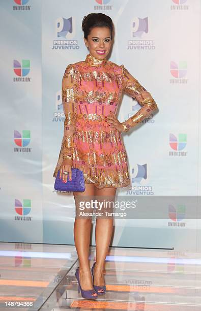 Beatriz Luengo arrives at Univision's Premios Juventud Awards at Bank United Center on July 19 2012 in Miami Florida