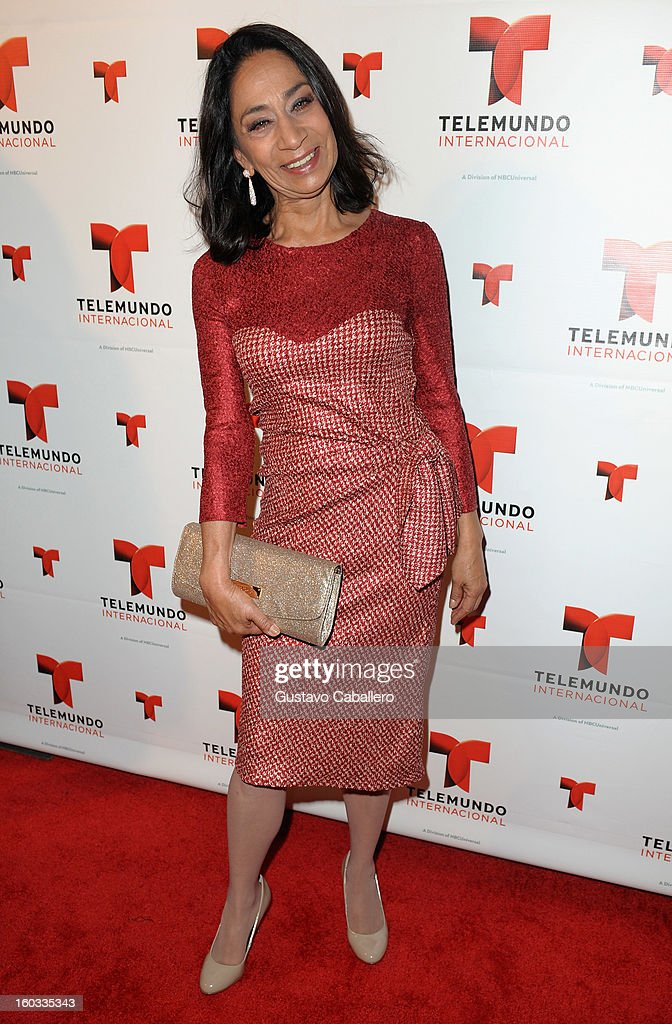 Beatriz Monro attends Telemundo International NATPE VIP Party at Bamboo Miami on January 28, 2013 in Miami, Florida.