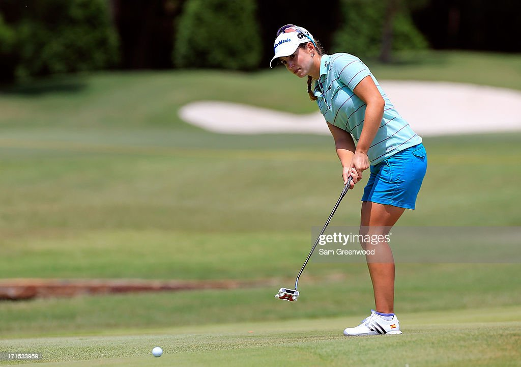 <a gi-track='captionPersonalityLinkClicked' href=/galleries/search?phrase=Beatriz+Recari&family=editorial&specificpeople=2259558 ng-click='$event.stopPropagation()'>Beatriz Recari</a> of Spain plays a shot during the final round of the Walmart NW Arkansas Championship Presented by P&G at the Pinnacle Country Club on June 23, 2013 in Rogers, Arkansas.