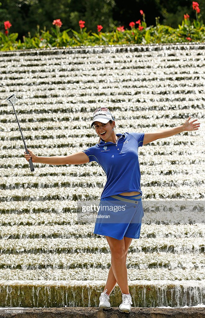 <a gi-track='captionPersonalityLinkClicked' href=/galleries/search?phrase=Beatriz+Recari&family=editorial&specificpeople=2259558 ng-click='$event.stopPropagation()'>Beatriz Recari</a> of Spain poses during the pro-am prior to the start of the HSBC Women's Champions at the Sentosa Golf Club on February 27, 2013 in Singapore, Singapore.