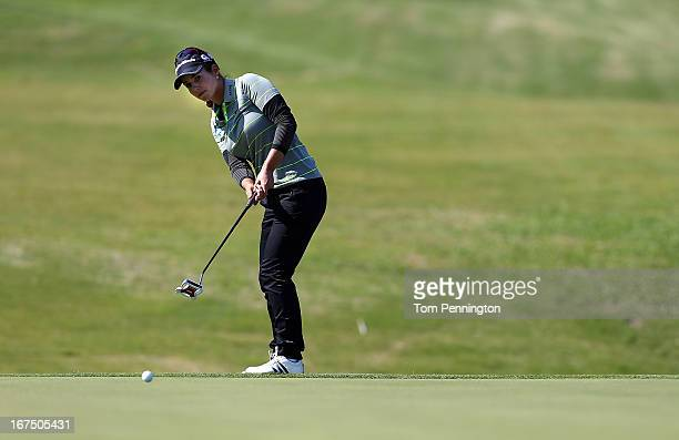 Beatriz Recari of Spain putts during the first round of the 2013 North Texas LGPA Shootout at the Las Colinas Country Club on April 25 2013 in Irving...