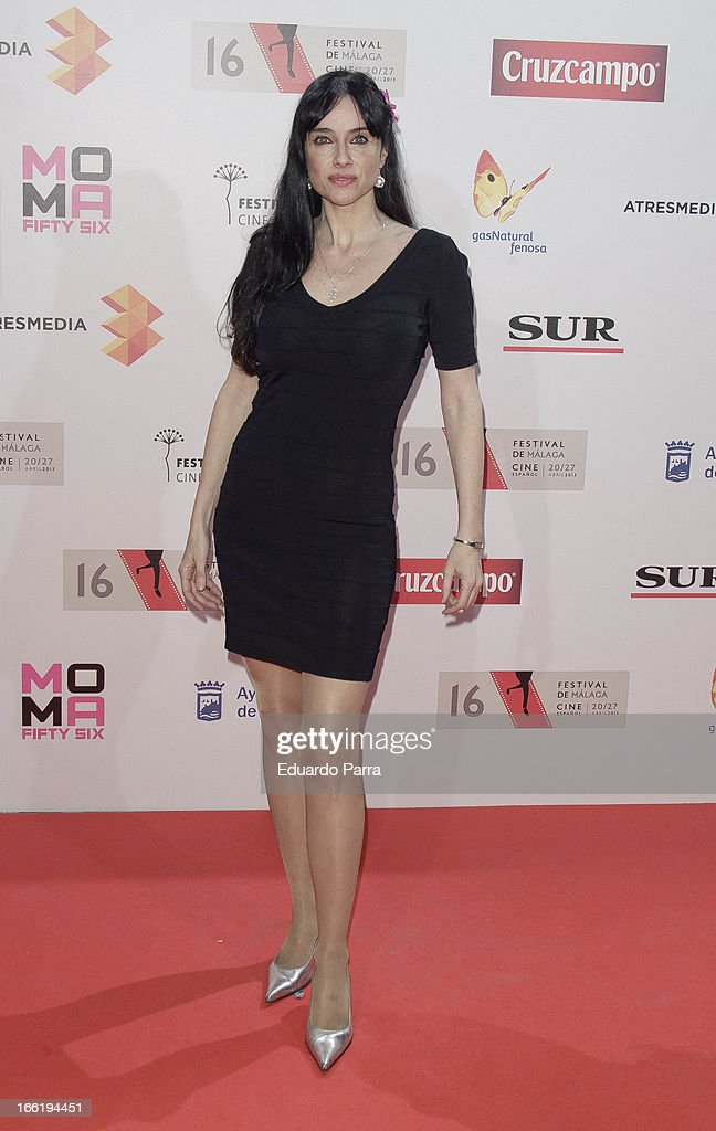 Beatriz Rico attends Malaga Film Festival party photocall at MOMA 56 disco on April 9, 2013 in Madrid, Spain.