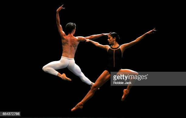 Beatriz StixBrunell and Vadim Muntagirov in the Royal Ballet's production of David Dawson's The Human Seasons at the Royal Opera House on March 14...