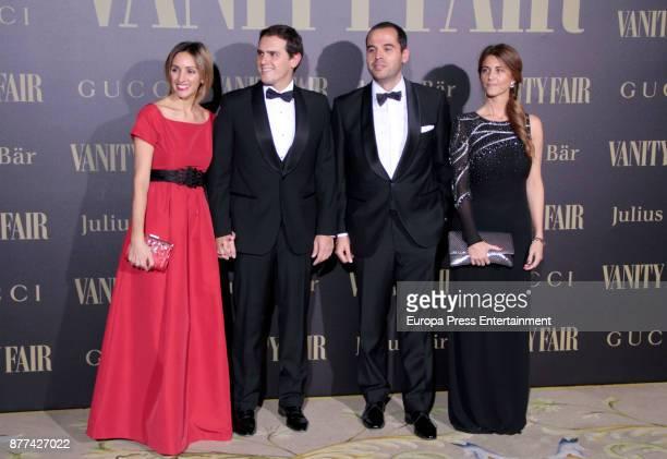 Beatriz Tajuelo Albert Rivera Ignacio Aguado and Esther Ruiz attend the gala 'Vanity Fair Personality of the Year' to Garbine Muguruza at Ritz Hotel...
