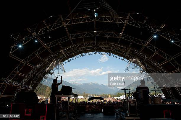 Beats Antique perform at the Pemberton Music Festical on July 16 2015 in Pemberton Canada