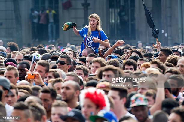 Beats by Dre promotional teams will be handing out Tshirts supporting France at live screening of World Cup quarter final matche at Hotel de Ville on...