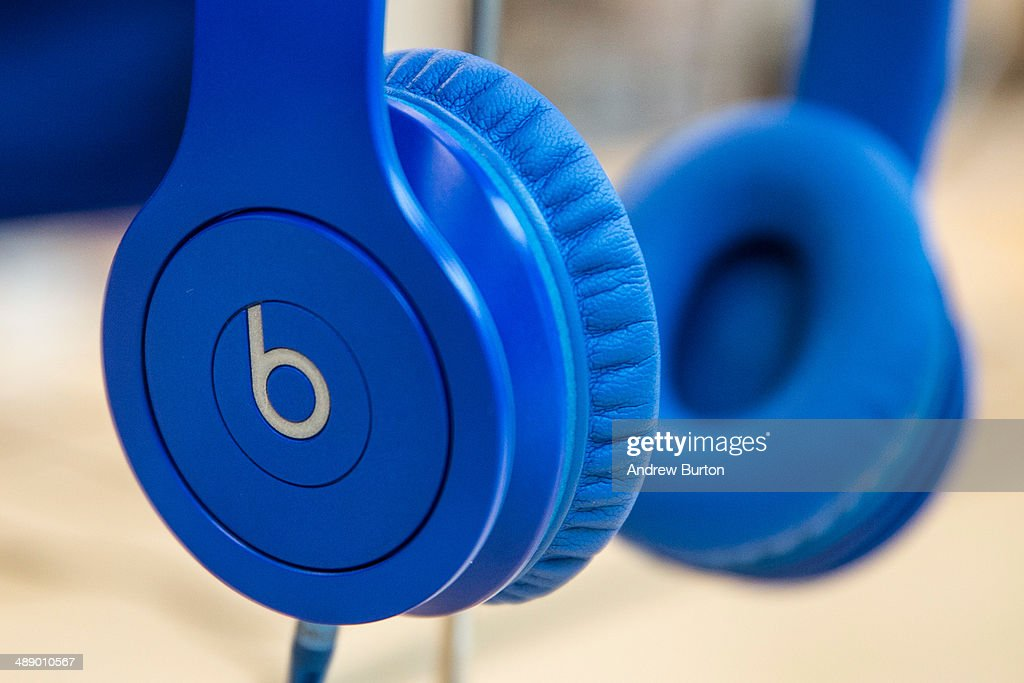 Beats headphones are sold in an Apple store on May 9, 2014 in New York City. Apple is rumored to be consideringing buying the headphone company for $3.2 billion.