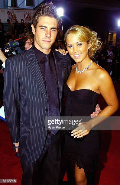 Beau Brady and Bec Cartwright from Home and Away attend the 46th Annual TV Week Logie Awards at the Crown Entertainment Complex April 18 2004 in...