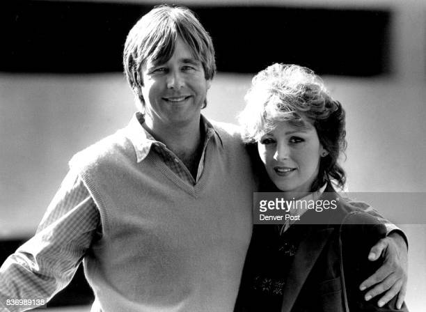 Beau Bridges and Bonnie Bedelia pose for a photo while on a publicity tour for their latest movie 'Heart Like a Wheel' a biographical film about...