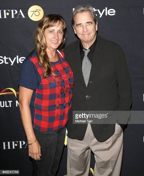 Beau Bridges and Wendy Treece attend the HFPA InStyle Annual Celebration of 2017 Toronto International Film Festival held at Windsor Arms Hotel on...