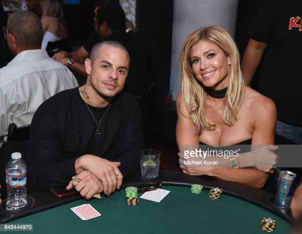 Beau Casper Smart and former WWE Diva Torrie Wilson at the Heroes for Heroes Los Angeles Police Memorial Foundation Celebrity Poker Tournament at...