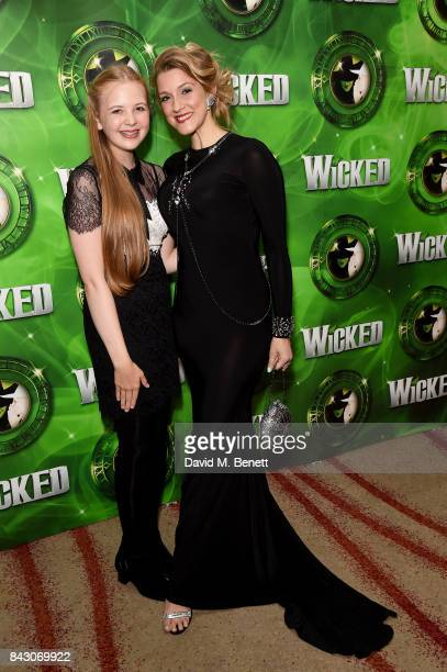 Beau Dermott and Alice Fearn attend the after show party celebrating the new cast of hit musical Wicked ahead of its 11th birthday at Park Plaza...