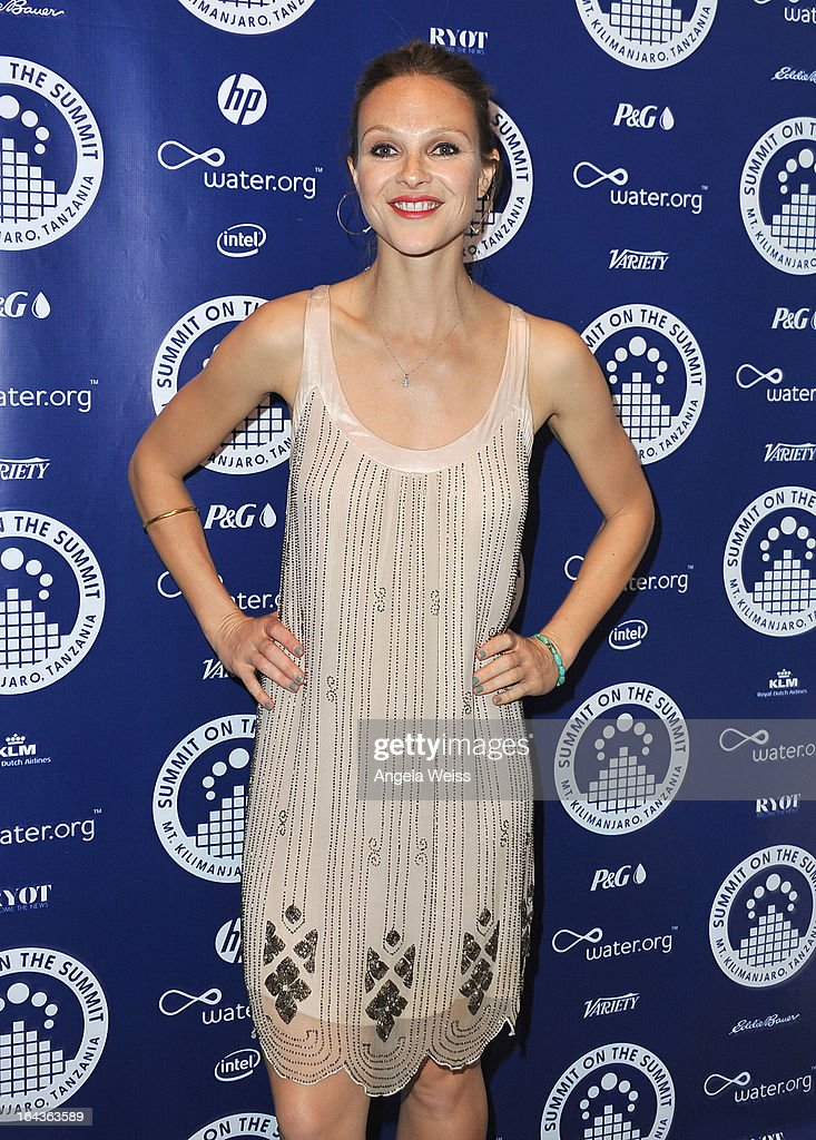 Beau Garrett arrives at the Summit On The Summit photo exhibition celebrating World Water Day at Siren Studios on March 22, 2013 in Hollywood, California.