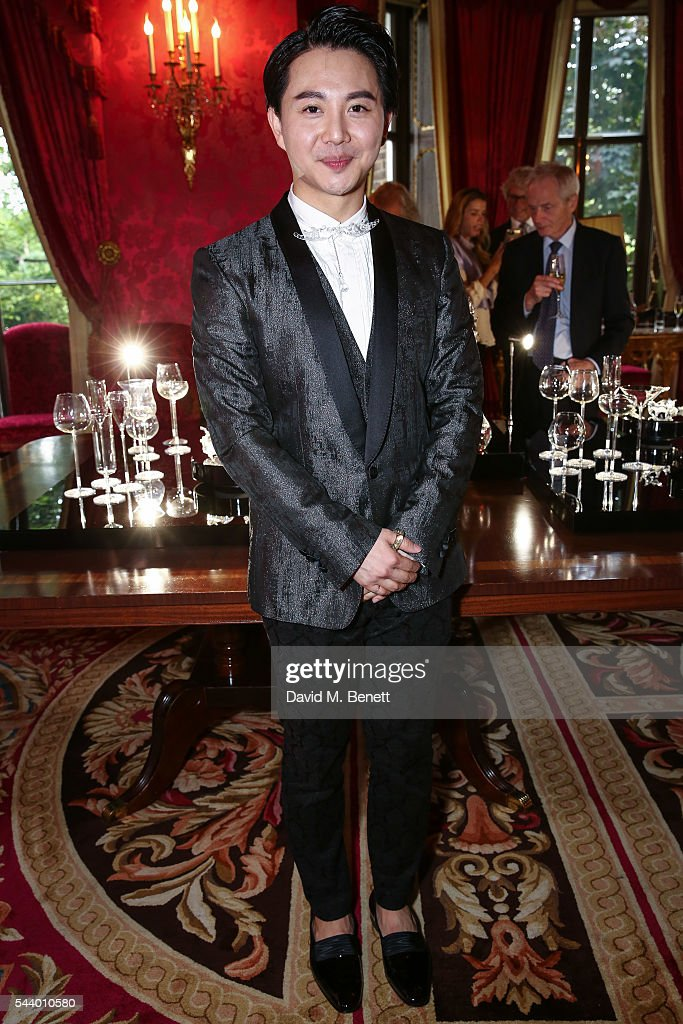 Beau Han Xu attends the launch of Beau Han Xu London's new collection Splash! at The Ritz Hotel on June 30, 2016 in London, England.