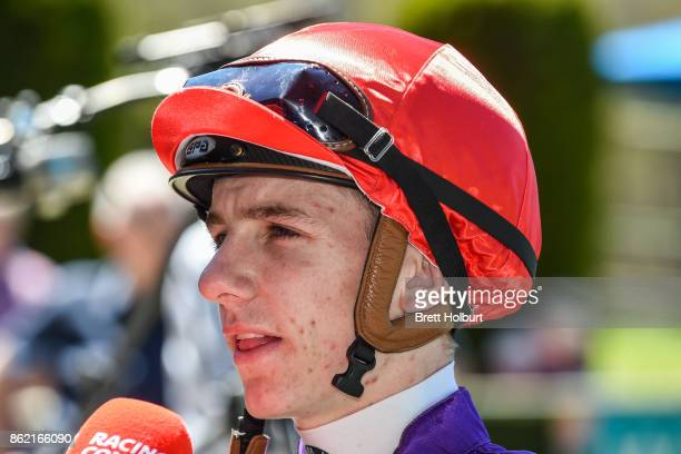 Beau Mertens after winning Elusive Style Maiden Plate at Kyneton Racecourse on October 17 2017 in Kyneton Australia
