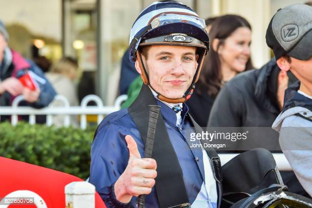 Beau Mertens after winning the Spicer Thoroughbreds Handicap at Ladbrokes Park Hillside Racecourse on July 26 2017 in Springvale Australia