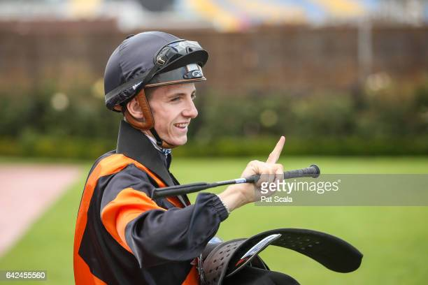 Beau Mertens after winning the The Asian Executive Stakes at Flemington Racecourse on February 18 2017 in Flemington Australia
