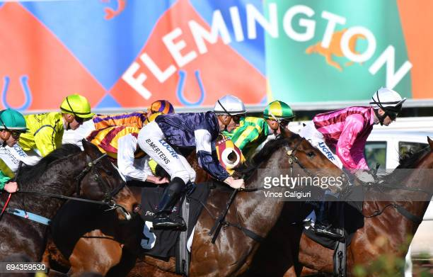 Beau Mertens riding Goathland during unplaced finish in Race 4 during Melbourne Racing at Flemington Racecourse on June 10 2017 in Melbourne Australia