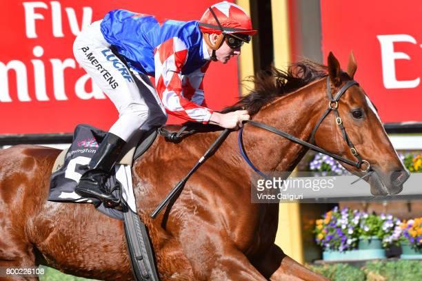 Beau Mertens riding Schism wins Race 3 during Melbourne Racing at Flemington Racecourse on June 24 2017 in Melbourne Australia
