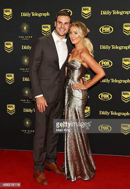 Beau Ryan and Kara Ryan arrive at the Dally M Awards at Star City on September 29 2014 in Sydney Australia