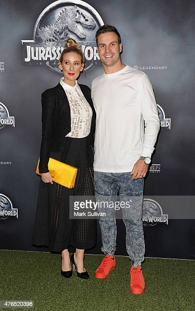 Beau Ryan and wife Kara Ryan arrive at the Australian Premiere of 'Jurassic World' at Event Cinemas George Street on June 10 2015 in Sydney Australia