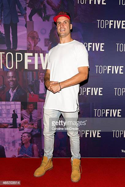 Beau Ryan arrives at the 'Top Five' special screening with Chris Rock on March 4 2015 in Sydney Australia