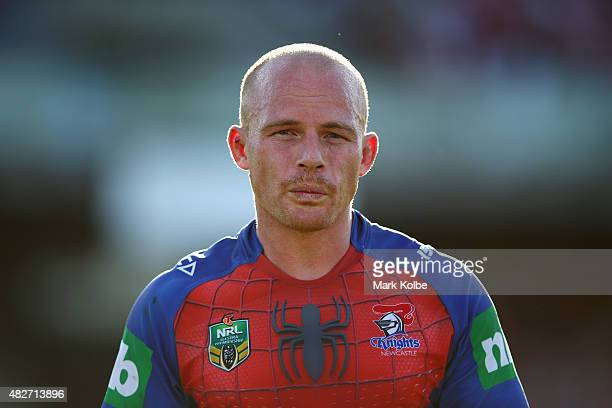 Beau Scott of the Knights looks on during the round 21 NRL match between the St George Illawarra Dragons and the Newcastle Knights at WIN Jubilee...
