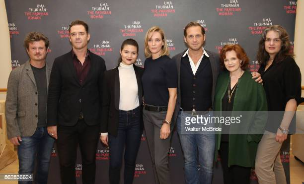 Beau Willimon Marton Csokas Phillipa Soo Uma Thurman Josh Lucas Blair Brown and Pam MacKinnon attend the Meet Greet Photo Call for the cast of...
