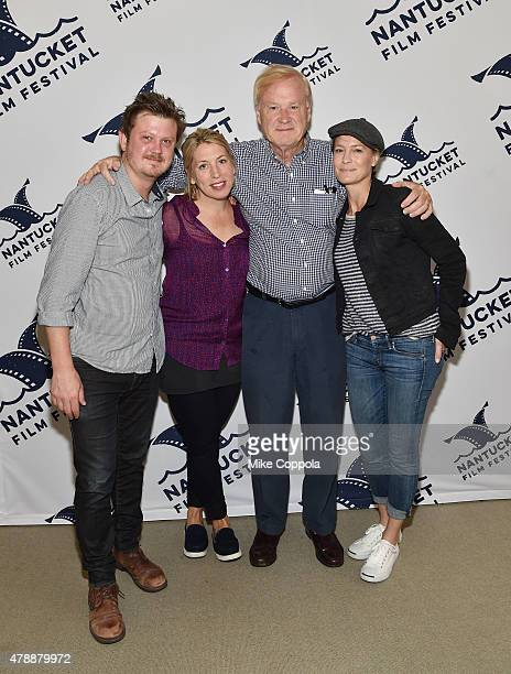 Beau Willimon Mystelle Brabbee Chris Matthews Robin Wright and Kathleen Matthews attend the 'In Their Shoes' event during the 20th Annual Nantucket...