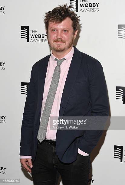 Beau Willimon poses backstage at the 19th Annual Webby Awards on May 18 2015 in New York City
