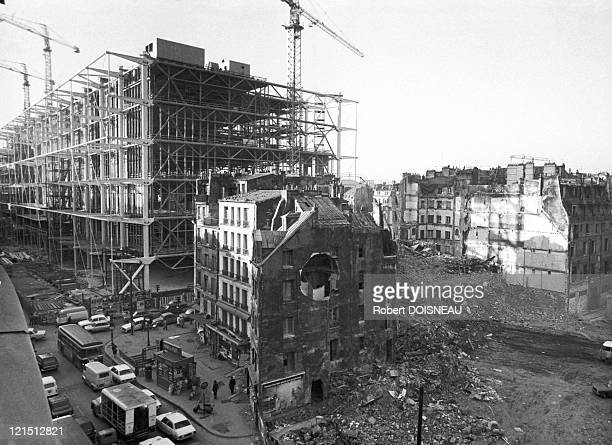 Beaubourg Construction Of Center Pompidou