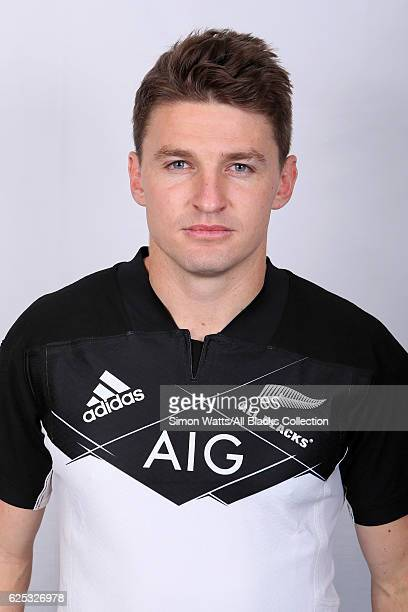 Beauden Barrett poses during the All Blacks End of Year Tour 2016 Headshots Session at Auckland International Airport Novotel on October 28 2016 in...