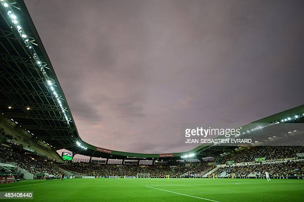 Beaujoire stadium is seen at sunset during the French L1 football match between Nantes and Guingamp in Nantes western France on August 8 2015 AFP...