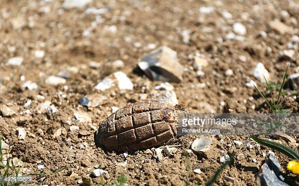 BeaumontHamel France May 19 A hand grenade sits on top of a farmers field Walking the Western Front Close to half a million Canadians served overseas...