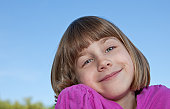 Beautiful 8 Year Old Girl Smiling