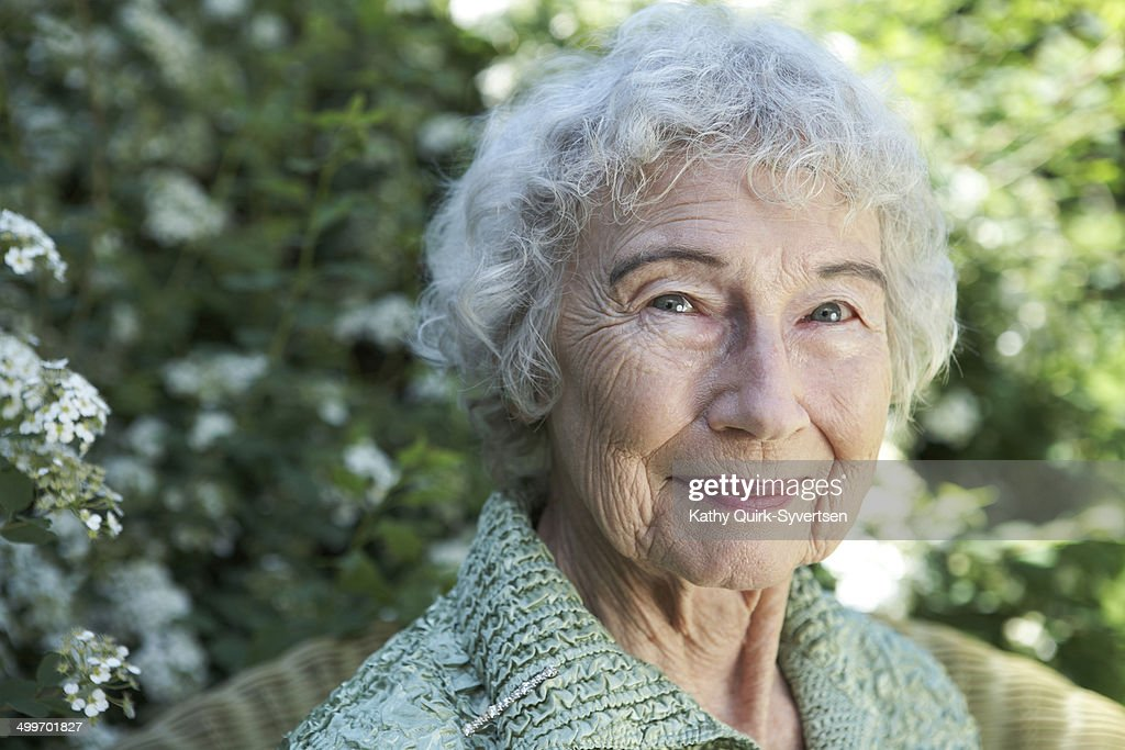 Beautiful 86 year old woman with bright eyes
