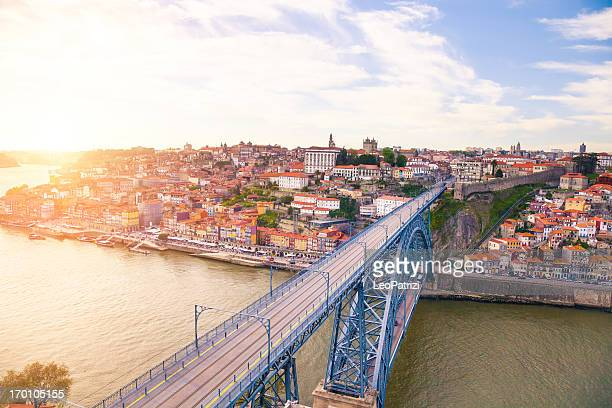Beautiful aerial view of Oporto