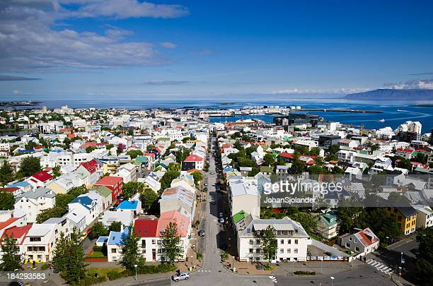A beautiful aerial view of Reykjavik