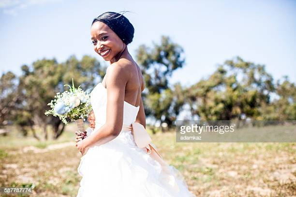 Belle afro-américaine mariée