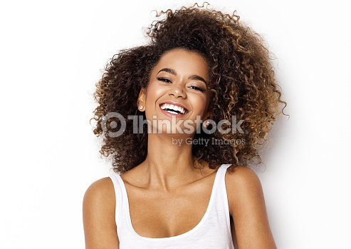 Beautiful african american female model : Stock Photo